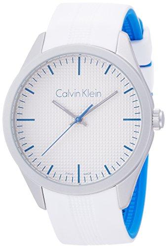 Calvin Klein K5E51FK6 - Reloj de Pulsera Mujer, Caucho, Color Blanco Roto