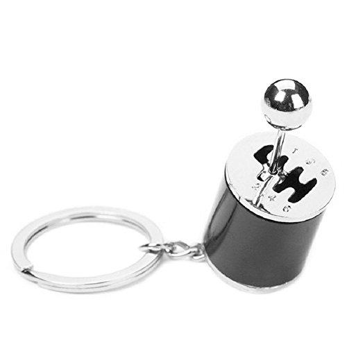 Kreativ Auto Teil Modell, Gear Shifting Schlüsselanhänger Schlüsselanhänger ADHD Fidget Key Chain Schwarz