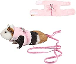 Stock Show Small Animals Outdoor Walking Vest Harness with Cute Butterfly Decor and Lead Leash Set Rabbit Hedgehog Ferret Guinea Pigs Piggies Squirrel Kitten Puppy Comfort Clothes Accessory
