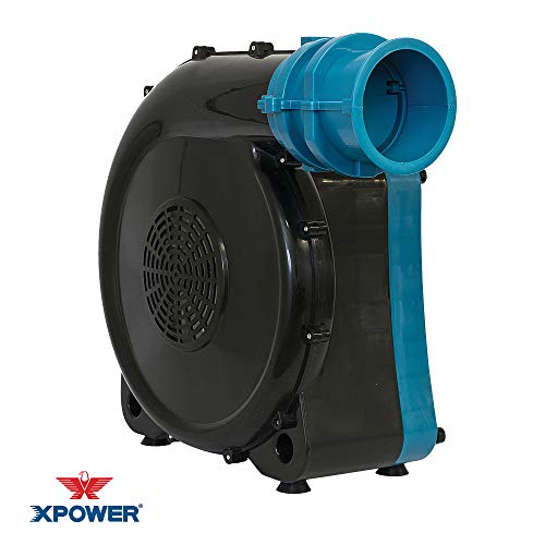 XPOWER BR-272A 1 HP Inflatable Blower for Indoor/Outdoor Decorations, Jumpers, Bounce Houses, Water Slides- Blue