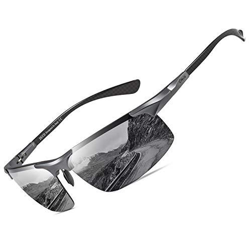 DUCO Men's Sports Polarized Driving Carbon Fiber Sunglasses for Men UV400...