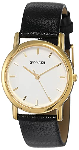 Sonata Analog White Small Dial Men's Watch -NJ7987YL02W