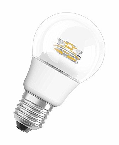 OSRAM LED-Lampe E27 dimmbar Superstar Classic A Energiesparlampe / 6W - 40 Watt-Ersatz, LED Birne als Kolbenlampe / klar, warmweiß - 2700K