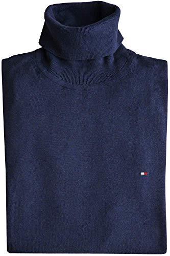 Tommy Hilfiger Rollkragen Pullover, Gr.XL, Logo, Cotton Silk