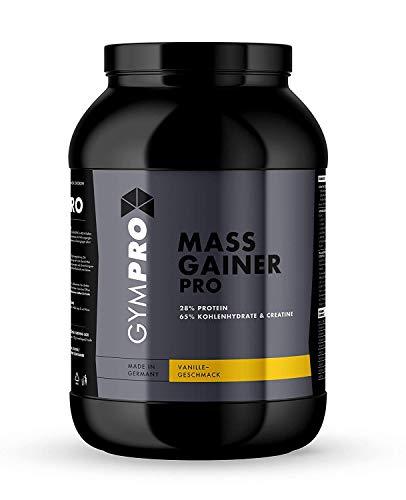 GymPro - Weight Gainer Professional mit Proteinen, Kohlenhydrate und Kreatin. Perfekt für den Masseaufbau und Muskelaufbau (Vanille, 4550g)