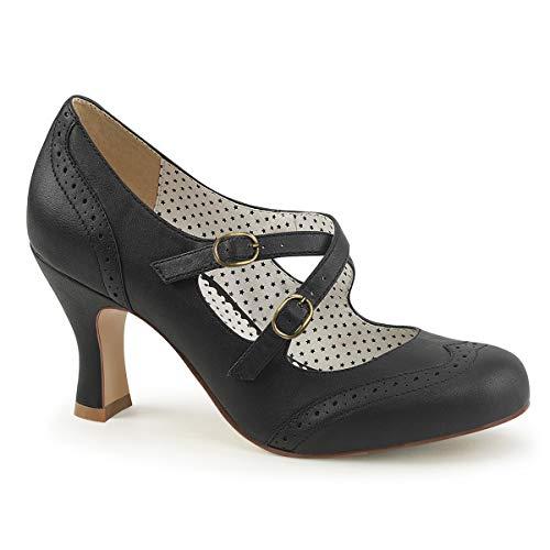 Pinup Couture Damen FLAPPER-35 Pumps, Schwarz (Blk Faux Leather), 41 EU