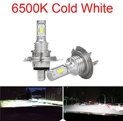 Faroles LED CSP Mini H7 Lámparas LED para automóviles Bombillas de faros H4 LED H8 H11 FOG LIGHT HB3 9005 HB4 Ice Blue 8000K 3000K Auto 12V ( Emitting Color : 6500K , Lumens : 12000Lm )