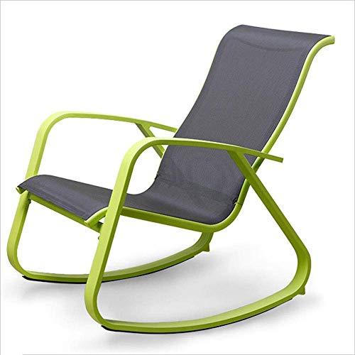 WJJJ Liegestuhl Schaukelstuhl Multifunktions-Aluminium-Legierung mit modernen lässigen Design Stuhl Armlehnen für Haus Balkon 3 Farben (Farbe: grün)