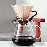 Filtro de café de papel de goteo manual desechable en forma de V de 100 Uds, Accesorio para hacer café 100% natural sin blanquear para V2/V60
