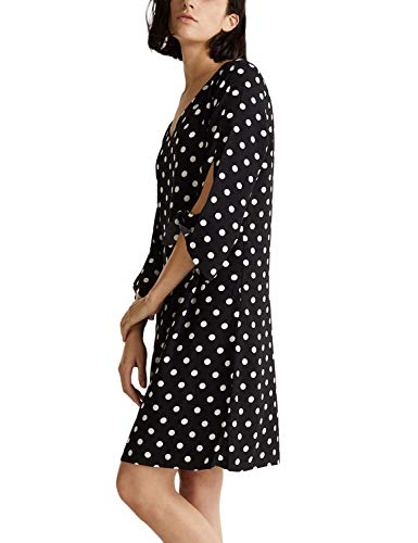 ESPRIT Collection Damen 999EO1E806 Kleid, Schwarz (Black 3 003), 40