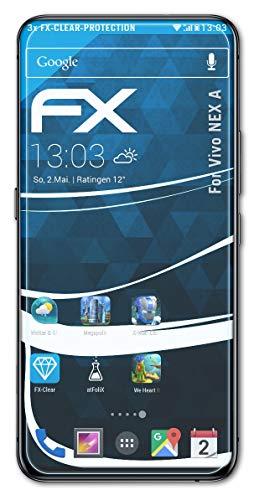atFolix Schutzfolie kompatibel mit Vivo NEX A Folie, ultraklare FX Bildschirmschutzfolie (3X)