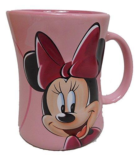 Disney Kaffeetasse Tasse Mug Pott Kaffee Disneyland Paris Minnie Mouse erhaben rosa