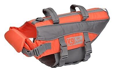 K9 Pursuits High Visibility Easy Grab Float Coat Life Jacket, Medium