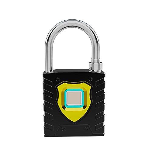 Gangkun Inch vingerafdruk hangslot Smart Lock waterdicht slot zwart