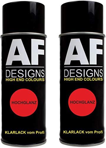 Klarlack 2 Spraydosen glänzend Hochglanz Lackspray Kratzfest UV Schutz Autolack