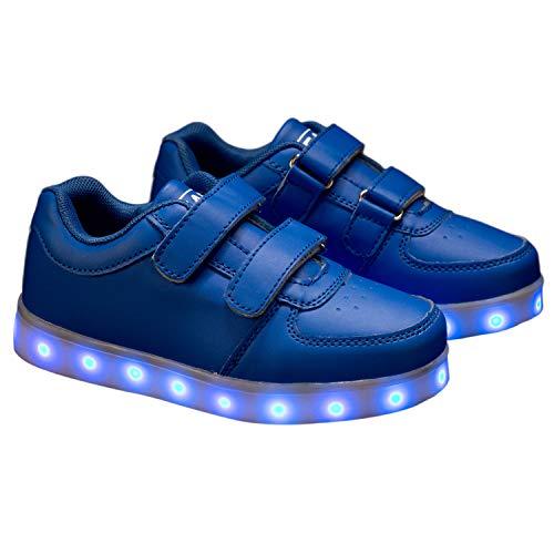 Beam, Zapatillas Recargables con luz LED para niños, Color Azul, Talla 32 EU