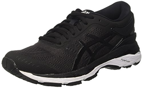 Asics Damen Gel-Kayano 24 Gymnastikschuhe, Schwarz (Black / Phantom / White), 37 EU