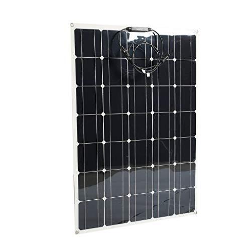 Kitechildhrrd 12V Solarpanel Flexibel 150W Solarmodul Monokristallin Solarzelle Solar Panel Photovoltaik Solar Mono Solarladegerät für Auto Boot RV