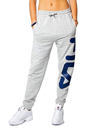Fila Unisex Classic Pure Pant Pantaloni Eleganti da Uomo, Grigio Chiaro Melange Bros, XL