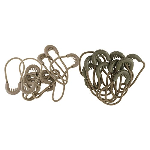 Dailymall 20x Zipper Pull Cord Rope Ends Zip Puller Zip Fastener Extension Replacement