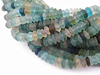 Saucer Roman Glass Beads, 100% Authentic and Genuine Ancient Glass, Made in Afghanistan, Matte Glass Beads for Jewelry Making, The Bead Chest