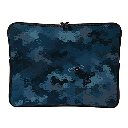 DKISEE Camouflage Military Pattern (6) Laptop Sleeve for Women Men, Compatible with 10 Inch MacBook Air/MacBook Pro Notebook Two-way Zippers Laptop Carrying Bag Case Cover