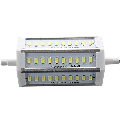 Dcolor R7S 12W Regulable 118mm 30 SMD Bombilla LED Blanco Halogena lampara de luz de inundacion 1200LM