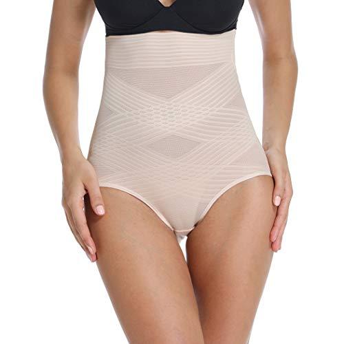 Shapewear Panty für Frauen Body Shaper Slips Hohe Taille Bauchkontrolle Panty Nahtlose Shaping Girdle Shorts Unterwäsche - Beige - XX-Large