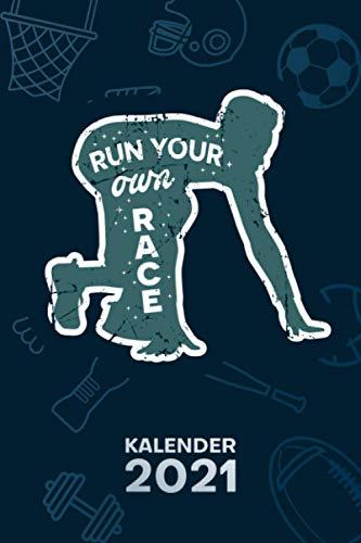 KALENDER 2021 A5: für Triathlet - Lauf Motivation Terminplaner mit DATUM - Joggen Organizer für Termine - Wochenplaner von Januar bis Dezember - 1 Woche auf 2 Seiten mit Kalenderwoche