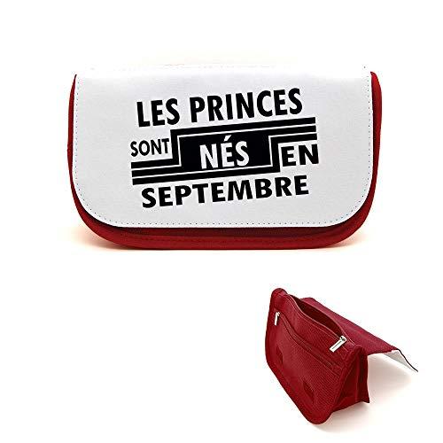Mygoodprice Trousse de beauté étui maquillage princes nés en septembre Rouge