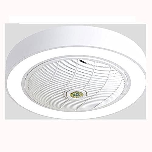 MAVL Ventilador de Techo con luz, 23 Pulgadas LED Control Remoto Totalmente Regulable Modos de iluminación Invisible Acrílicos Cuchillas de Metal Semi Flush Mount Bajo Perfil Fan