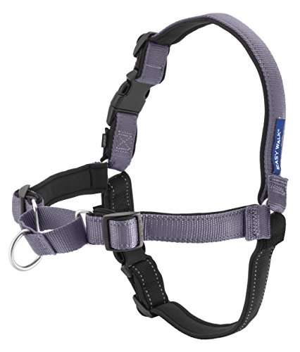 PetSafe Easy Walk Deluxe Dog Harness, No Pull Dog Harness – Perfect for Leash & Harness Training – Stops Pets from Pulling and Choking on Walks – Large, Steel Gray