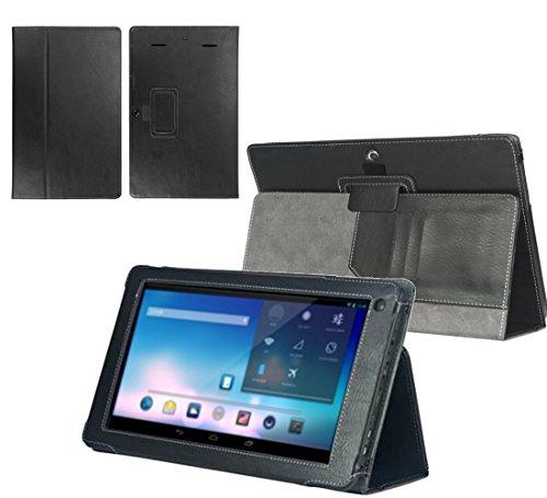 Navitech Executive Premium bycast Leder Hülle/Cover/Tasche/Etui mit Standfunktion für das Odys Ieos Quad White Edition X610092 10,1 Zoll Tablet PC