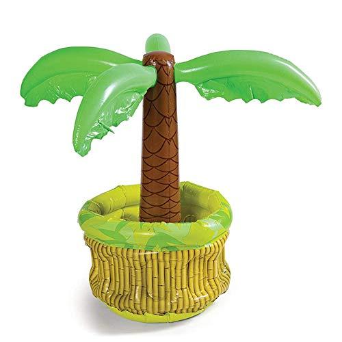 cming Aufblasbarer Eiskübel Palm Tree Cooler Beer Drinks Eiskübel Partyzubehör für Sommer-Swimmingpool-Themenparty