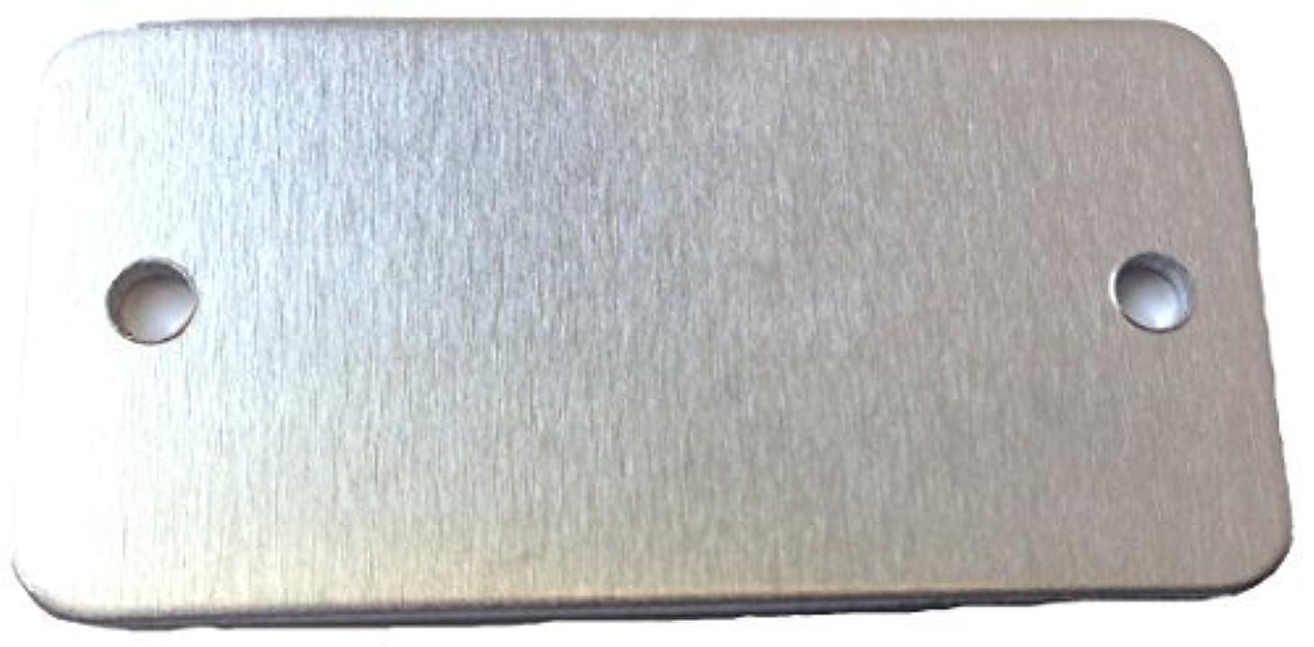 RMP Stamping Blanks, 1 1/2 x 2 3/4 Inch Rectangular Blank with Radius (Rounded) Corners, 2 Holes, Aluminum .063 Inch (14 Ga.)- 50 Pack