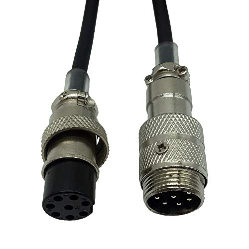 Red-Fire Two Way Radio Microphone 8 Pin Mic Extension Cord Male to Female for YAESU ICOM CB Radio walkie Talkie