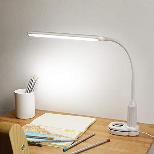 Lámpara de mesa Protección de ojos Led Lámpara de escritorio Interruptor Sensor Control Mesa Luz USB Accionada Stepless regulable Clip flexible Estudio Lámparas