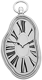 Modern Home Salvador Dali Inspired Melting Wall Clock Black White Classic Plastic Battery