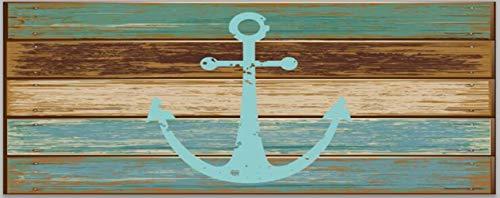 Goodbath - Alfombra de baño extra larga con ancla náutica, antideslizante, con parte trasera de goma, absorbentes para bañera, fregadero, cocina, alfombra de suelo, 17,7 x 47,2 pulgadas