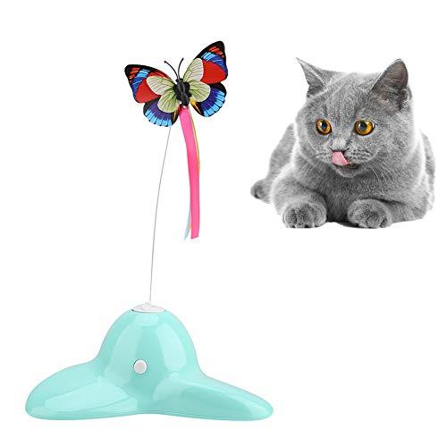 Katzenspielzeug Teaser Elektrische rotierende leuchtende Schmetterlingsausbildung Katzenspielzeug Inner-Spielzeug für die Tierbedarf für Kätzchen Kätzchen Katzen trainieren Spielen jagen unterhaltsam