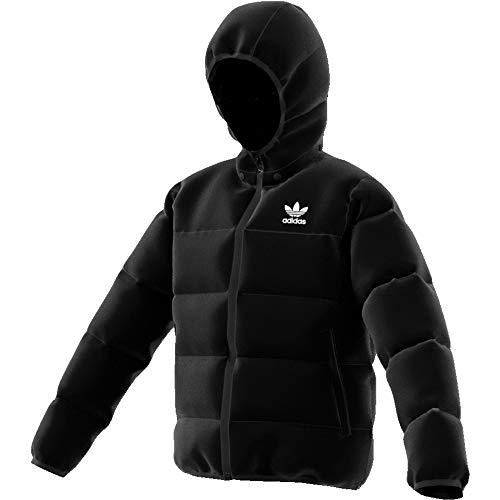adidas Jacket Veste de Sport Garçon, Black/White Reflective, FR : S (Taille Fabricant : 7-8Y)