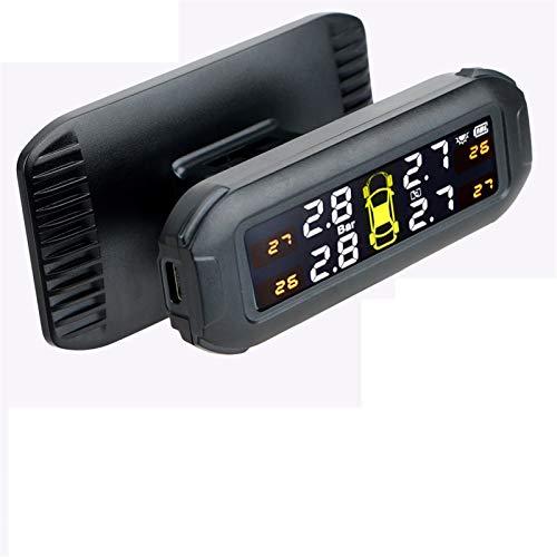Sistema De Control De PresióN De NeumáTicos Coche Monitor de la presión del neumático del neumático del neumático del automóvil con 4 sensores externos Temperatura ADVERTENCIA ADVERTENCIA Guardar