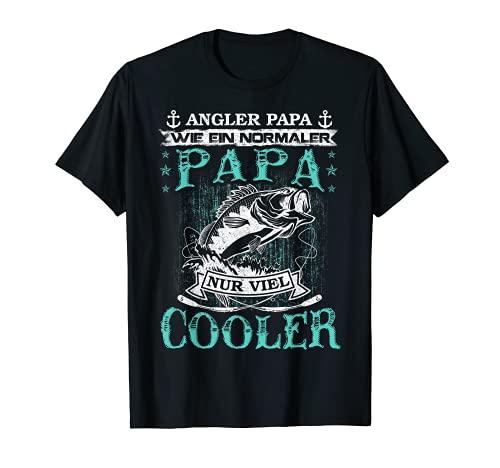 Herren Angler Papa Fischer Vater Papa Angeln Geburtstag Geschenk T-Shirt