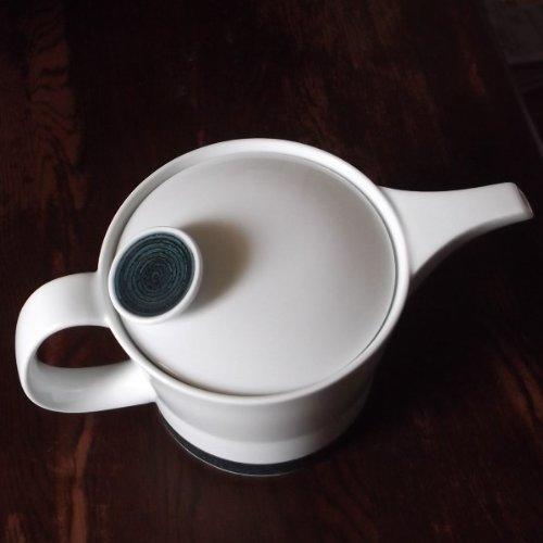 白山陶器麻の糸ポット(大)インディゴストレーナー付き