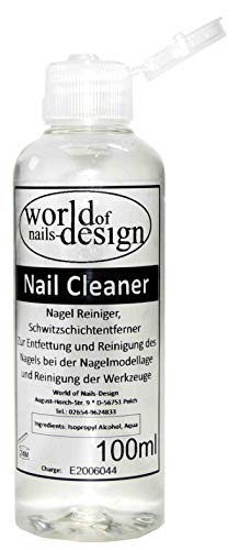World of Nails-Design Nagel Cleaner 100ml Cleaner Für Gelnägel Nagelreiniger Nail Cleaner 70% Isopropanol