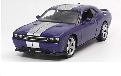YaPin Modellauto 01.24 Dodge-Challenger SRT Challenger-Muskel-Auto Weinlese-Legierung Auto-Modell-Sport-Auto (Color : Blue, Size : 19cm*8.5cm*6cm)