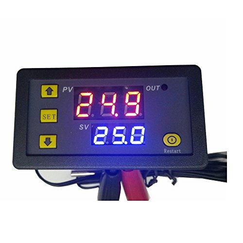 KUNSE W1018 5V 12V 24V 10A Termómetro Digital Temperatura Controlador Termostato Incubadora-20~110 °C con Sonda-5V