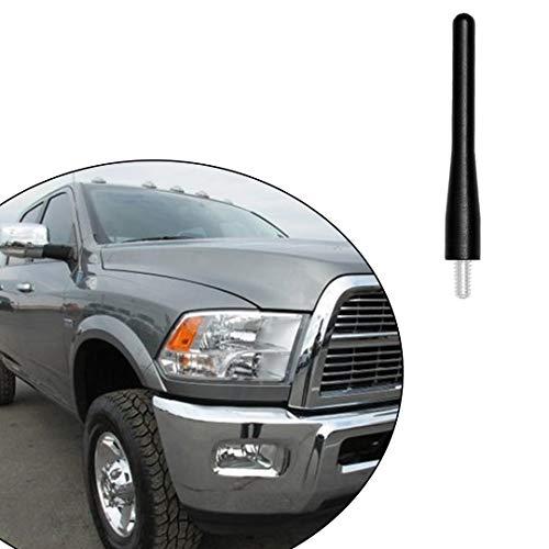 Performance Short Antenna for Dodge RAM 2500 3500, Black 3.6' Antenna Mast Whip Fits for RAM 2500 3500 Trucks 2010-2021, 6061 Aluminum, Car Wash Safe Proof Trucks Pickups Antenna