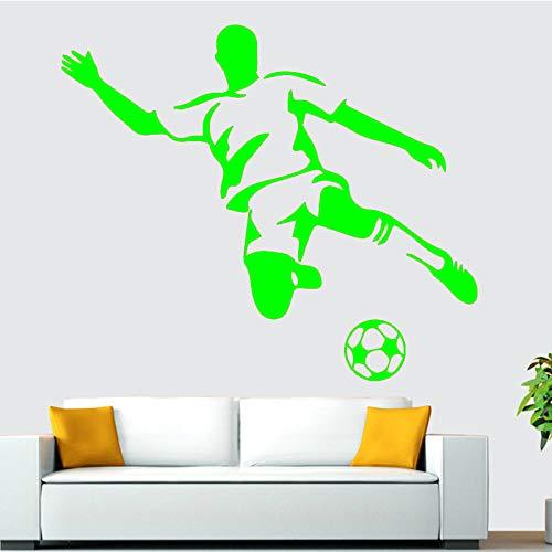 Ajcwhml Fußball Junge Wandkunst Applique Wandaufkleber Wandkunst für Kinderzimmer Schlafzimmer Wohnzimmer Sofa Hintergrund Dekorative Wandaufkleber 绿色 58 cm X 67 cm