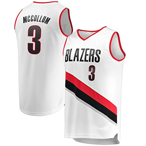 NIUPUPU Maglia da Basket da Uomo NBA C.J. McCollum 3 Damian Lillard 0 Maglia da Atletica retrò Canotta da Fitness Canotta Sportiva S-XXL